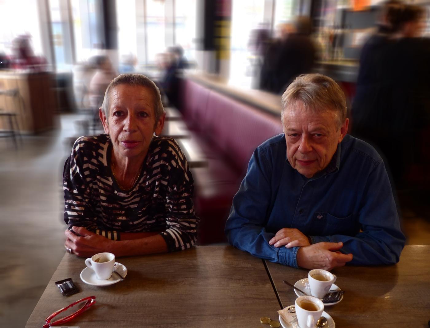 Elyne Bonnet et Yvon Pez, présidente et vice-président de l'association Livre Ensemble.