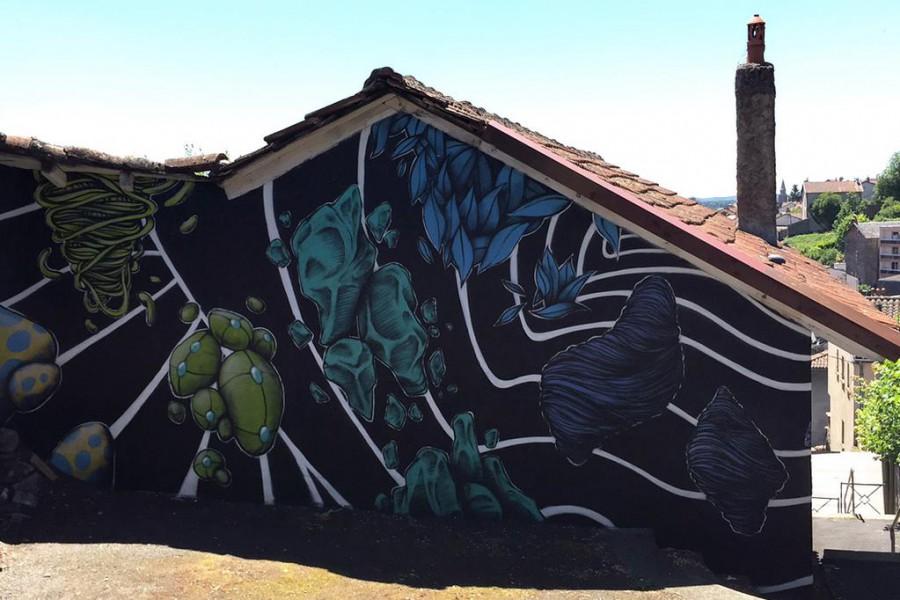 Street art facade maison