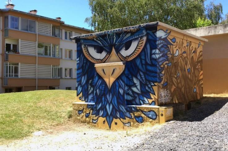 peinture street-art oiseau