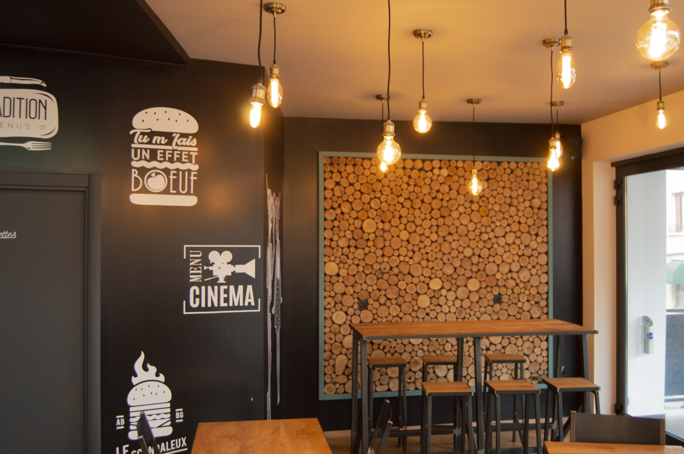 Le nouveau local de l'Aubrac Burger rue Béteille
